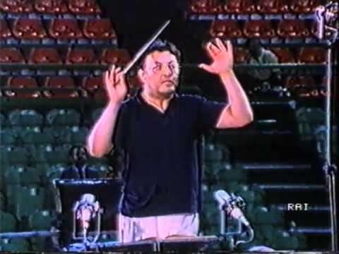 Zubin Metha prova Messa da Requiem al Maggio Musicale Fiorentino