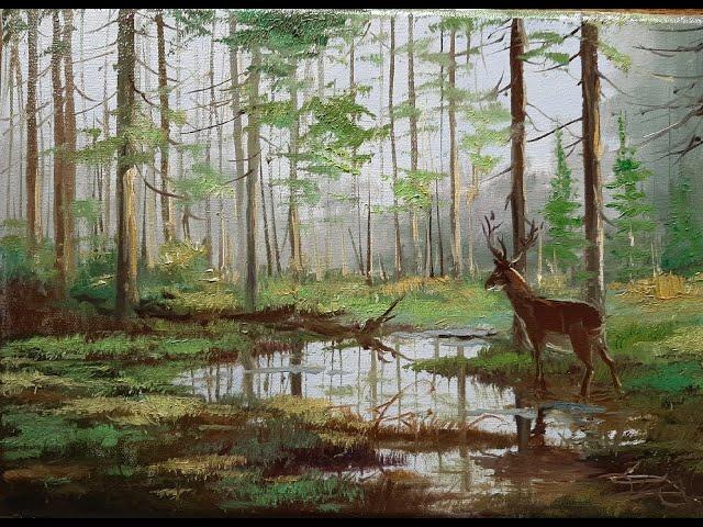 В лесу - In the forest .Vugar Mamedov