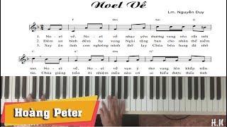 Hướng dẫn đệm Piano: Noel Về - Hoàng Peter