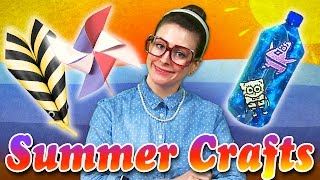 Summer Craft Compilation | Patriotic Pinwheel, Spongebob & More | Arts & Crafts With Crafty Carol