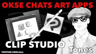 Okse Chats Art Apps : Clip Studio : How to use the Tone Feature (Not Click Bait)