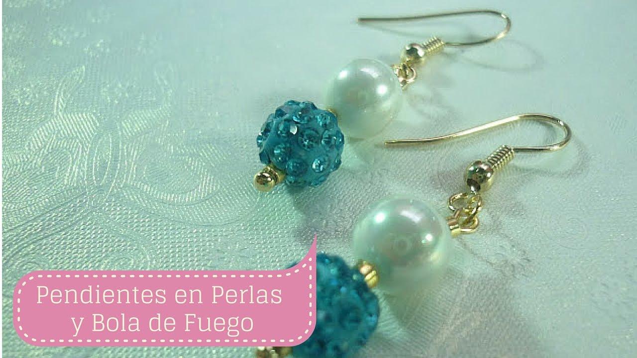 73fc397599bf Manualidades  PENDIENTES con perlas fácil  Bisutería DIY ♥ - YouTube