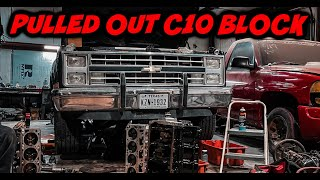 NITROUS BACKFIRED C10 PULLING OUT BLOCK!