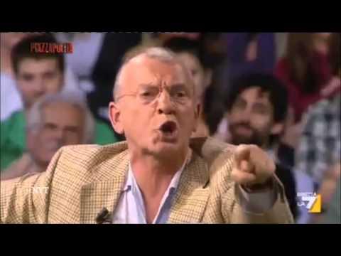 """BUSI DEMOLISCE LA GELMINI - """"MA VADA A LAVORARE!!!""""PIAZZA PULITA 4.11.2013"""