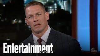 John Cena Responds To Dwayne Johnson Trash Talk On Jimmy Kimmel | News Flash | Entertainment Weekly
