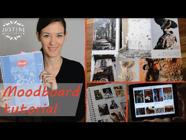 How To Create A Fashion Mood Board Example From My Designer Portfolio Justine Leconte Youtube