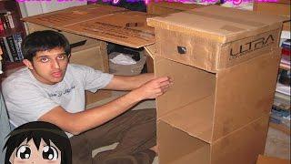Стол из картона своими руками . Мебель из картона. Как сделать стол из картона