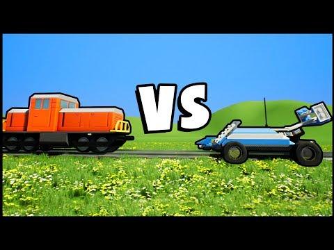 LEGO RC CAR vs LEGO TRAIN In A Giant Lego City! (Brick Rigs Gameplay)