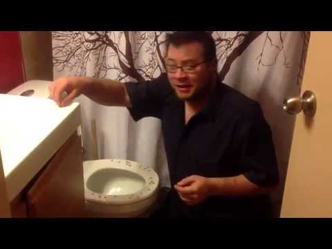 Tacks on the toilet prank
