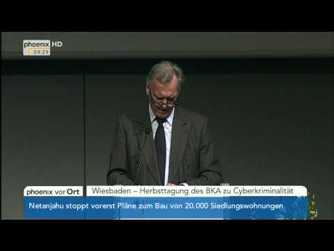 Kriminalistik 2.0 - Rede von Jörg Ziercke (BKA) am 12.11.2013