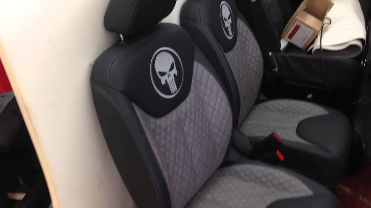Jeep Wrangler Seat Covers >> Jeep Punisher Edition Ep.8 - Skull Theme Seats Leather Conversion Weather Proof Luxury Seats ...