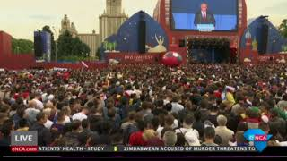 Launch of #WorldCup at Fan Park at Luzhniki Stadium in moscow