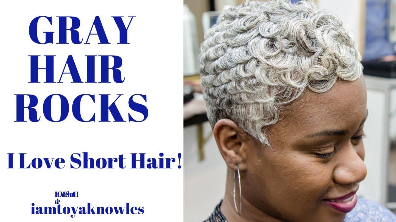 2020 Gray Short Hairstyles Black Women Dallas Texas Youtube