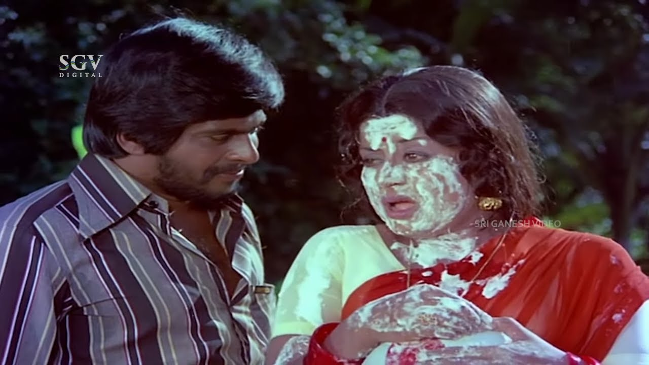 Seetha Ramu Old Kannada Movie Back To Back Comedy Scenes   Shankarnag, Manjula, Dinesh