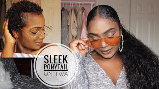 how-to-sleekest-low-ponytail-on-short-twa-thick-curly-natural-hair