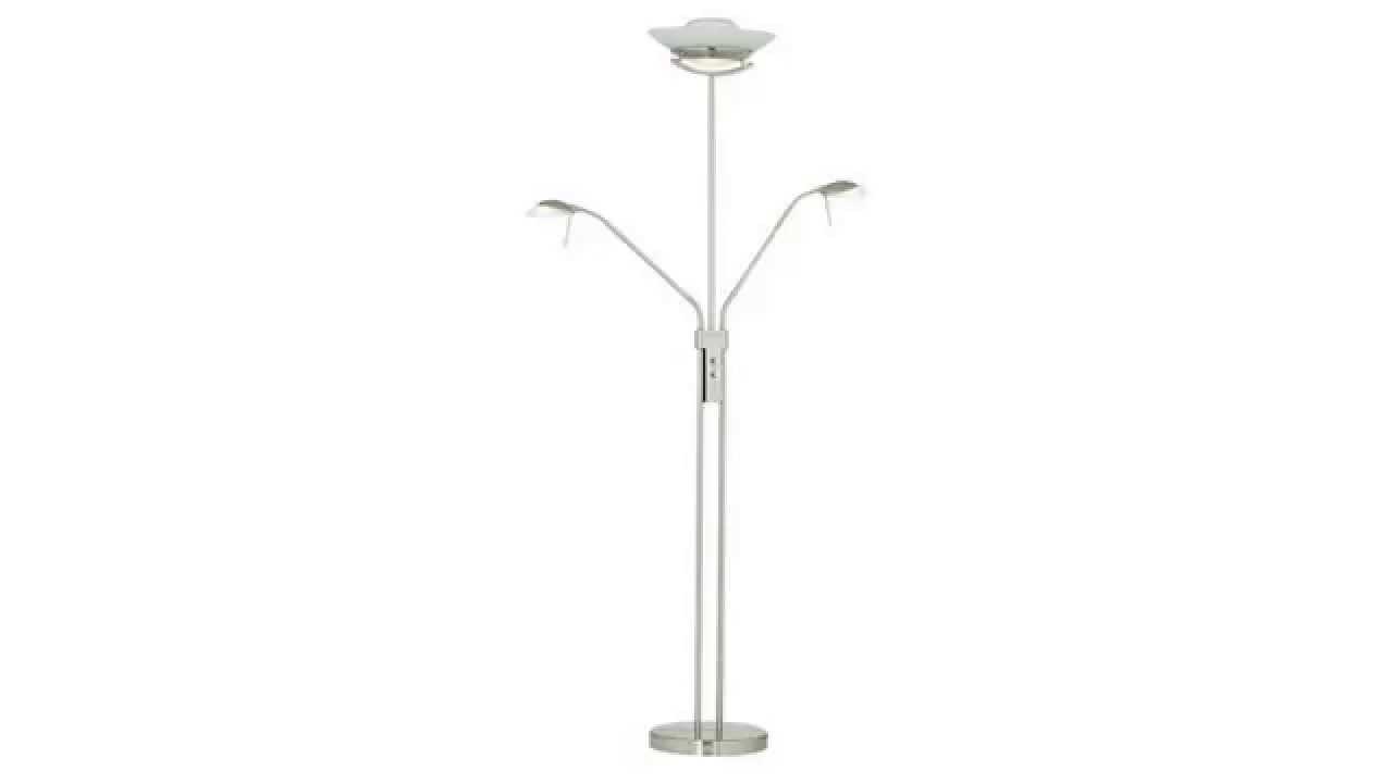 Halogen torchiere floor lamp halogen three light for Cavelleto 3 light floor lamp