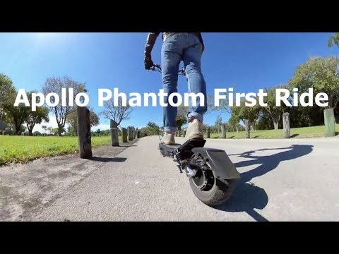 Apollo Phantom First Ride - Best Electric Scooter for Rough City Streets