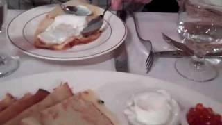 Bernie Zlotnick and Steve Longo Enjoy Russian Cuisine at Lada Cafe in Cliffside Park, NJ