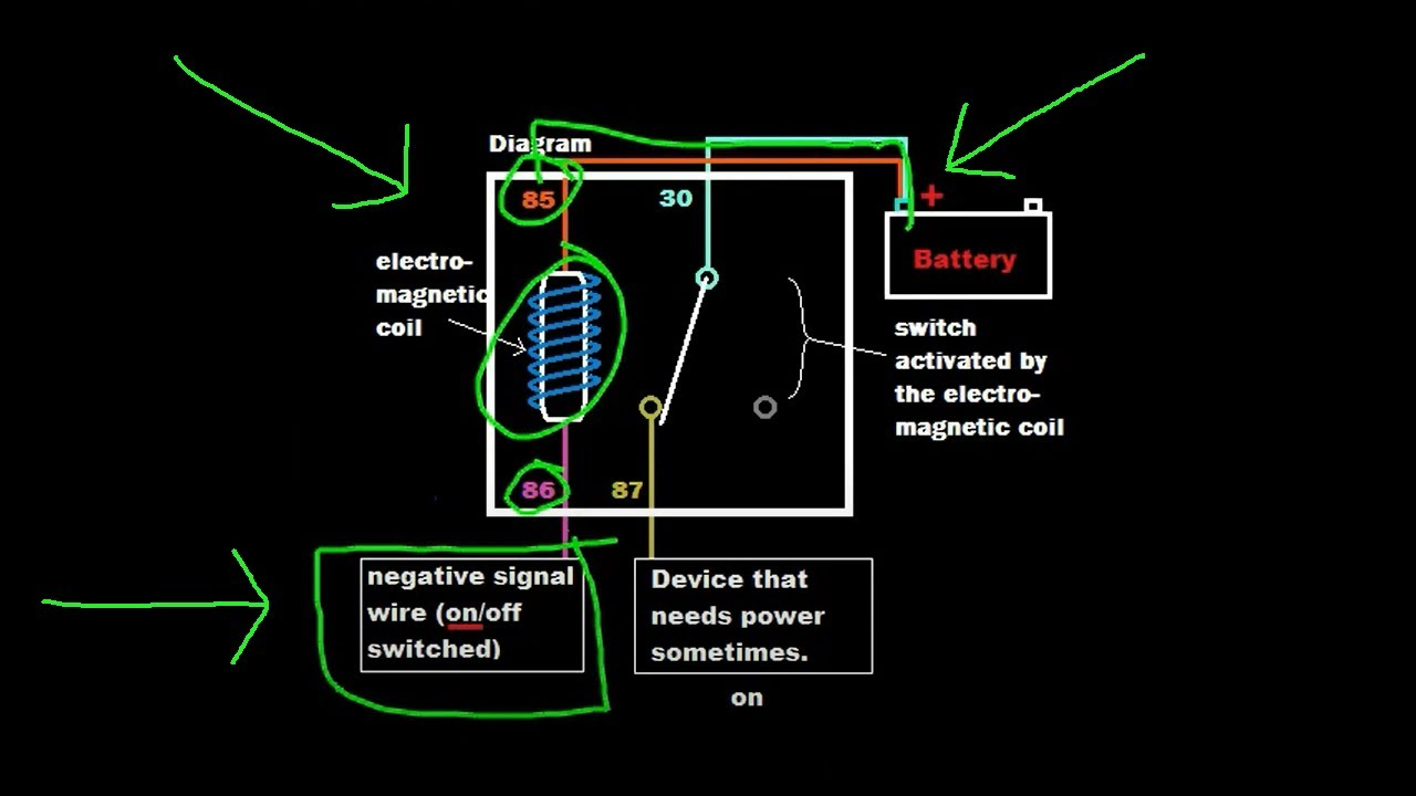 Negitave Volt Relay Wiring Schematic on