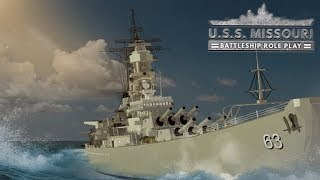 Tour of a roblox game called USS Missouri (outside.)