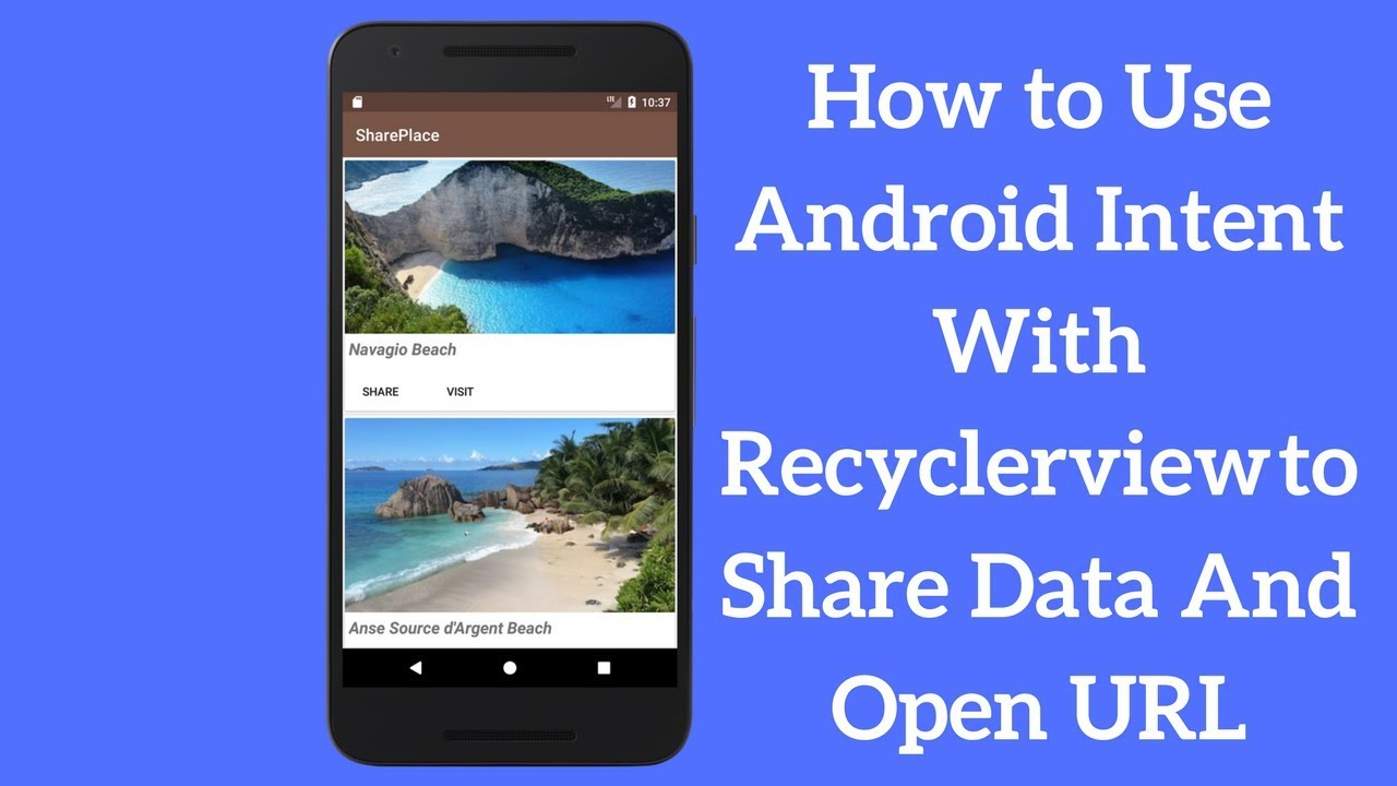 How to Use Android Share Intent With Recyclerview - Coding Demos