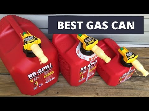 NO-SPILL Gas Can System - The best gas can on the market!