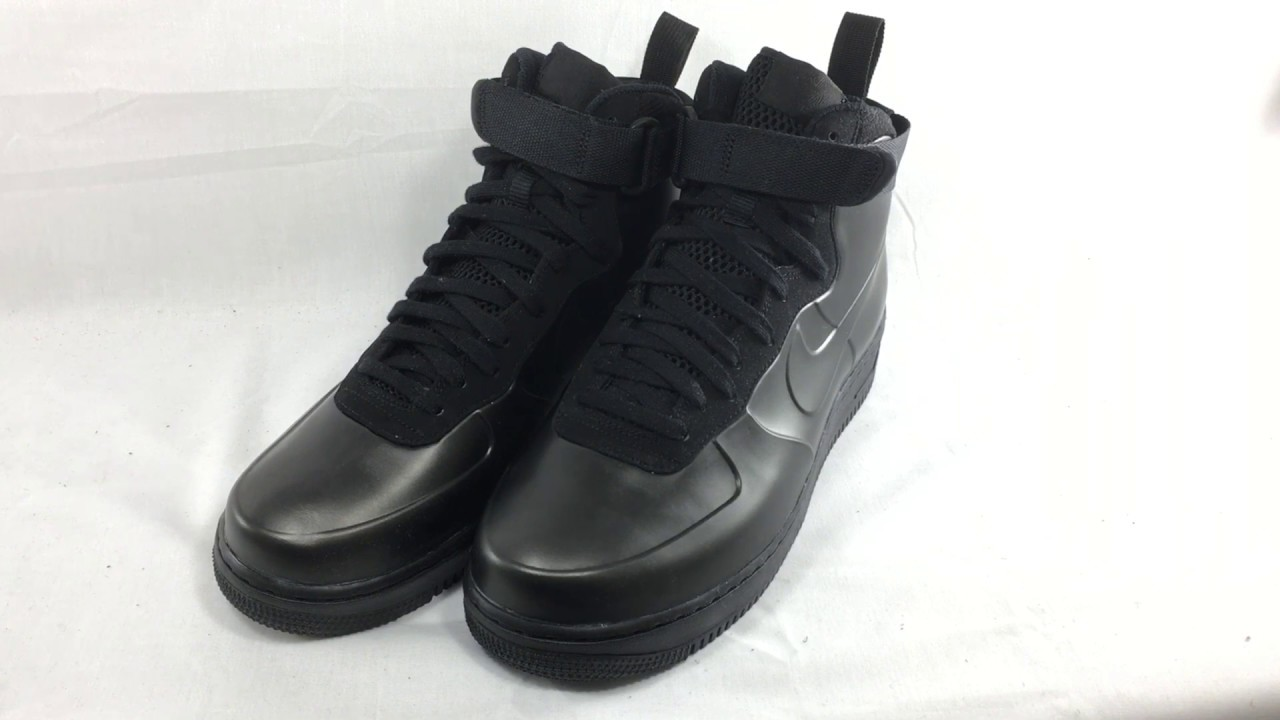 best loved cbf04 12808 Nike Air Force 1 Foamposite Cup Shoes Review Triple Black