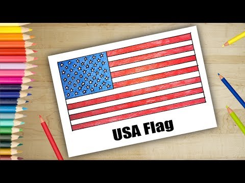 How to Draw USA flag | Drawing easy for kids