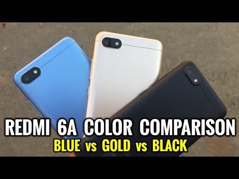 Redmi 6A Color Compare | Blue vs Gold vs Black | Color Comparison