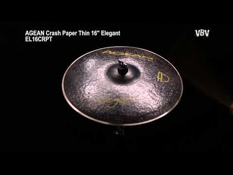 "16"" Crash Paper Thin Elegant video"