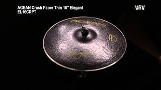 """Crash Paper Thin 16"""" Elegant vidéo"""