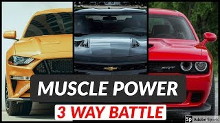 Ford Mustang GT vs Chevy Camaro SS vs Dodge Challenger Exhaust Sound and Acceleration