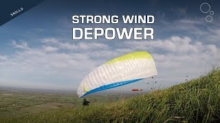 Strong Wind Depower: Rear Riser Control