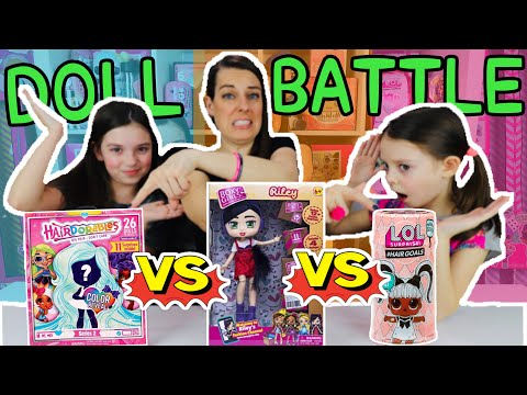 OUR BUNNIES PICK OUR TOY UNBOXING! LOL SURPRISE vs HAIRDORABLES vs BOXY GIRLS! Funny Bunny Sunday #6