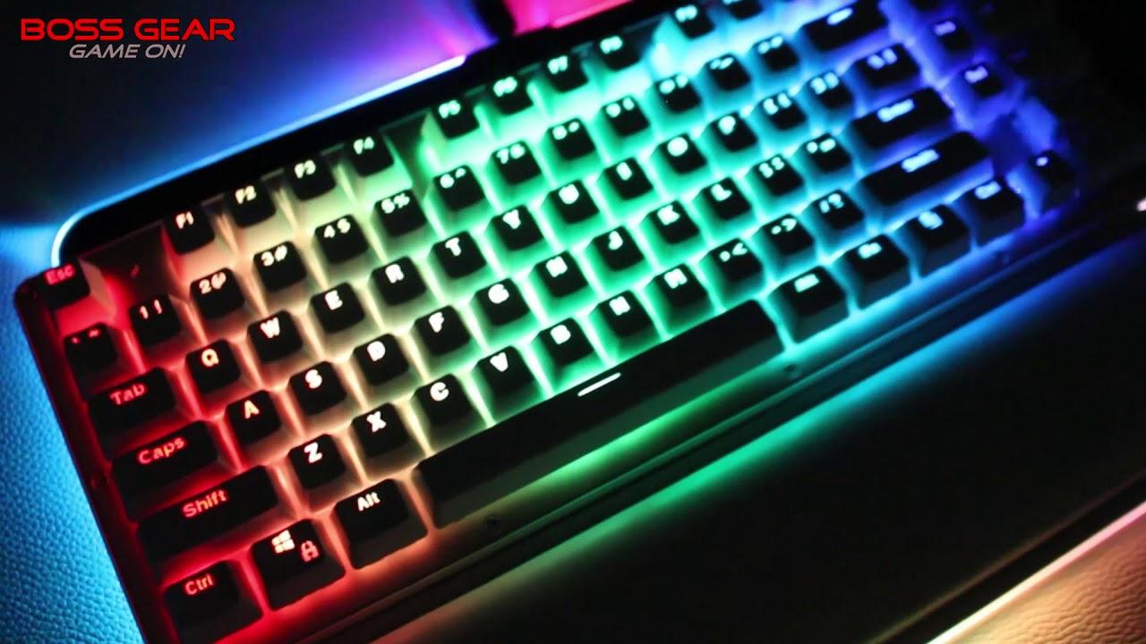 Bàn phím cơ BossGear Ontario phiên bản Màu Trắng! LED RGB theo nhạc!