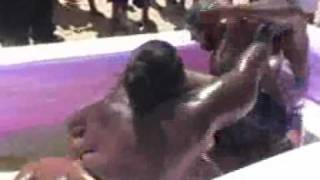 Babsbbw Oil Wrestling Part 3