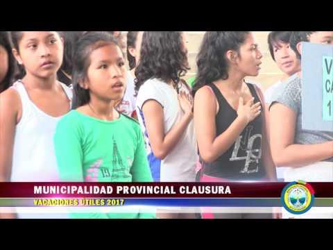 MUNICIPALIDAD PROVINCIAL CLAUSURA VACACIONES ÚTILES 2017