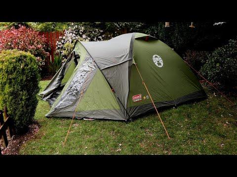 Coleman Darwin 4  tent -- take down & pack away!