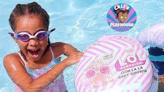 Cali Finds LOL Treasure in the Pool | Cali's Playhouse