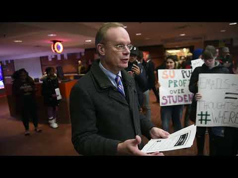 SU Chancellor Kent Syverud on protest over frat video: 'I should have been there'