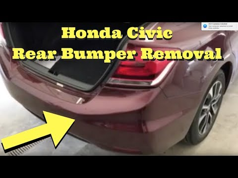 2012 2013 2014 2015 Honda CIVIC ---- Rear Bumper Removal Install Replace How to Remove