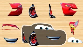 Disney cars Mcqueen Wrong Part by Masha Puzzle Kids Rhymes | Finger Daddysong