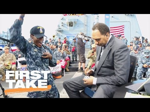 First Take thanks troops during visit to Naval Base San Diego | First Take | ESPN