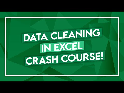 Excel Crash Course - Data Cleaning in Excel - Microsoft Excel Tutorial