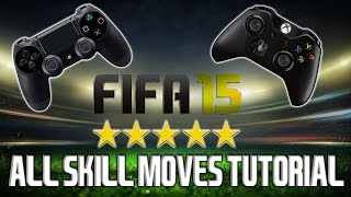 "FIFA 15 - ""All Skill Moves"" Tutorial + Controller Animation 