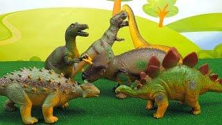 Динозавры MEGASAURS для Детей - Игрушки Тиранозавр Рэкс,  Трицератопс, Брахиозавр, Стегозавр