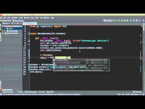 Python GUI Development with GTK+ 3 - Tutorial 6 - ListBox