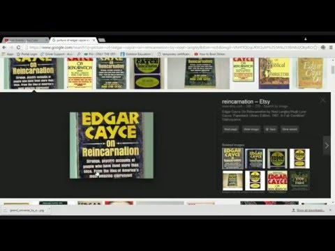 Edgar Cayce on Reincarnation...my journal pt 2