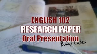 ENG 102 Research Paper Presentation - DEATH OF THE ENGLISH LANGUAGE AND LITERACY? Thumbnail