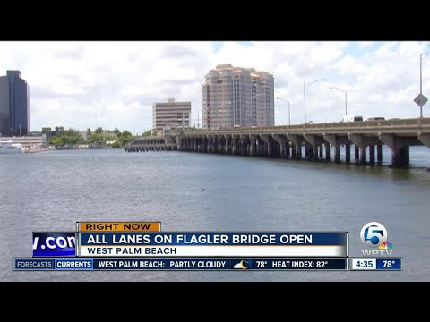 Flagler Memorial Bridge is open in West Palm Beach